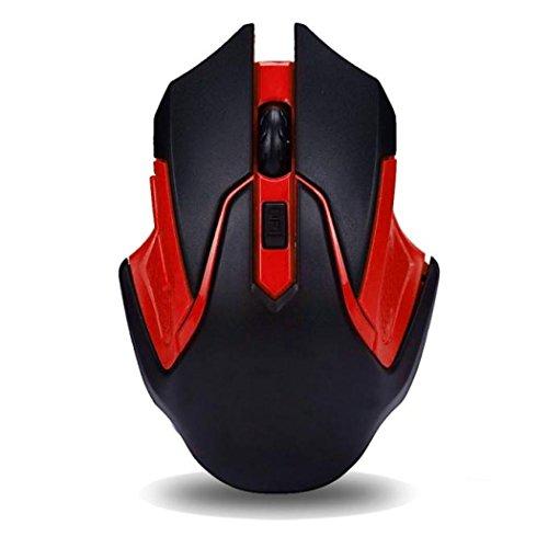 Maus, bobogo Lasermaus 2,4GHz Kabellose Optische Gaming Maus Mäuse für Computer PC Laptop