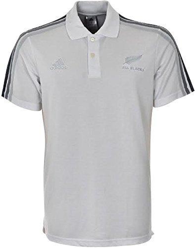 Adidas Performance a 3strisce da uomo All Blacks Rugby Nuova Zelanda, Polo Piquet Bianco Taglie S M L XL XXL Nuove f83838, Uomo, Adidas All Blacks New Zealand Shirt, White, L