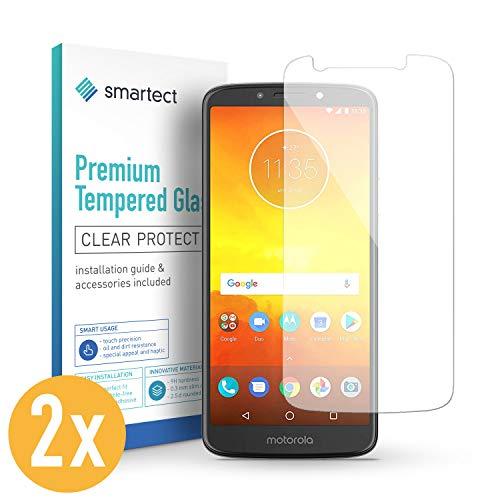 smartect Panzerglas für Motorola Moto E5 [2 Stück] - Bildschirmschutz mit 9H Härte - Blasenfreie Schutzfolie - Anti Fingerprint Panzerglasfolie