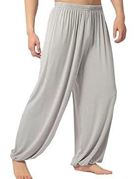 Cayuan Mujer Pantalones Harén de Danza Yoga Pilates Holgados Harem Pantalón Bombachos Polainas de Modal Casual