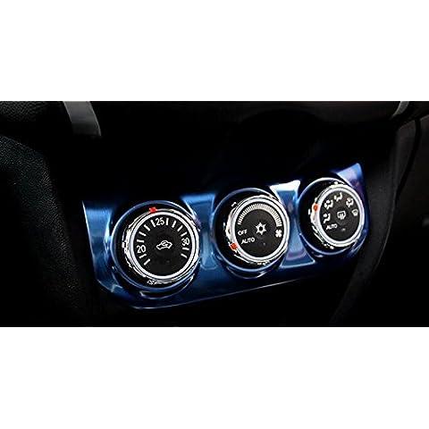 1pcs Acero Azul AC Ajuste de color del botón cubierta para Mitsubishi ASX 2013-2015