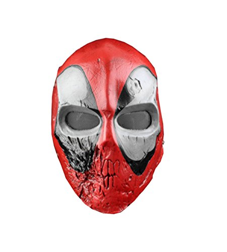 Nihiug Cos Schädel König Cs Schutz Halloween Horror Dead Vaterschaft Film Maske Harz Neuheit Latex Gummi Gruselig Scary Ghost Dekoration,A (Film Vaterschaft)