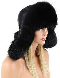 donna volpe Berretto Pelliccia berretto Berretto con pelo CAPPELLO AVIATORE  Fox Cappello invernale colbacco URSS beretto da sci Cappello… aeb2ef394f64