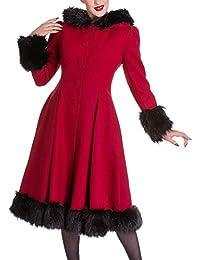 Hell Bunny - Manteau - Uni - Femme Rouge Rouge