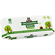 Pogi's Grooming Wipes - 100 Deodorising Wipes for Dogs & Cats - Biodegradable, Hypoallergenic, Fragrance-Free, All Natural Pet Wipes