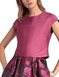 APART Fashion Glamour: Black Cherry-Blush-Pink, Débardeur Femme