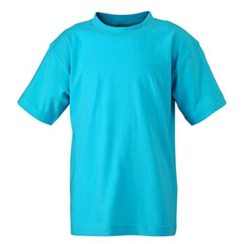 JAMES & NICHOLSON Kinder Komfort-T-Shirt aus hochwertigem Single-Jersey Turquoise