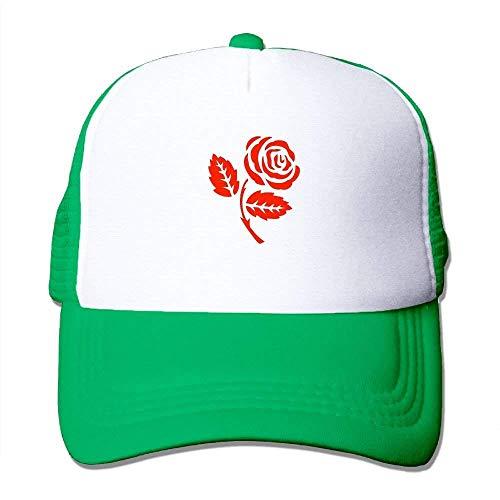 af5c460ee FGHJKL Red Rose Vector Women's Mesh Unisex Snapback Baseball Trucker Hats