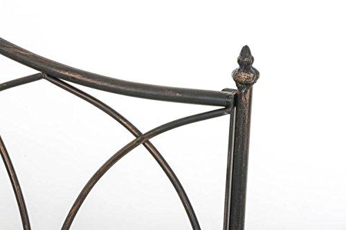 CLP Gartenbank ORKUN im Landhausstil, Eisen lackiert, 107 x 50 cm, 2er Sitzbank Bronze - 4