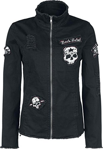 Rock Rebel by EMP Skull Denim Jacket Giacca donna nero XL