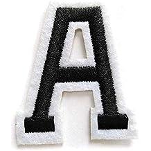 Askdasu Ropa 26 Parches de Letras Bordadas A-Z; Insignia de Fieltro Alfabeto DIY Retro Coser