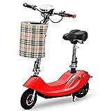 Trottinette Electrique avec Selle Mini 8 Pouces Pliable Scooter Électrique,Vitesse Maximale 25 Km/H, Portée 25 Km, avec Affichage Et Voyant Lumineux,F