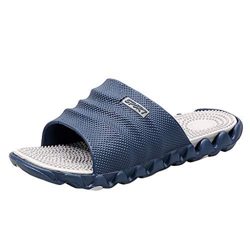 AIni Herren Schuhe,Mode Beiläufiges 2019 Neuer Heißer Gentleman Leisure Massage Health Tragen rutschfeste Strandschuhe Strand Partyschuhe Freizeitschuhe(45,Dunkelblau)