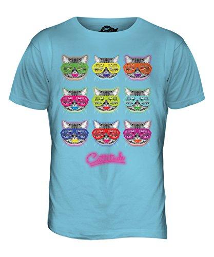 CandyMix Cattitude Katze Herren T Shirt Himmelblau