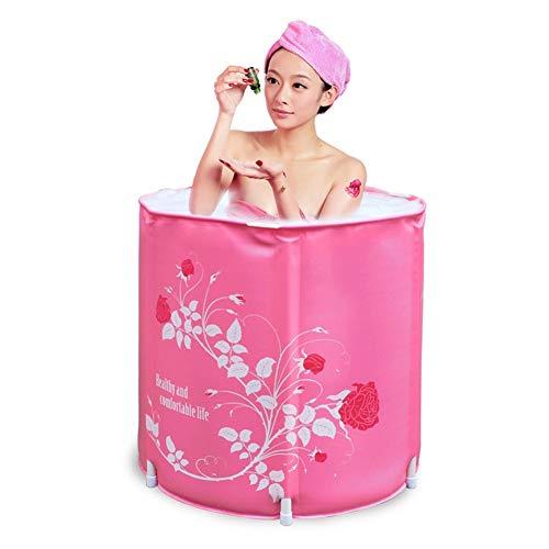JTYX Runde Badewanne die Portabler Isolierungs Ausgangsduschbecken Becken Sitzbäder faltet