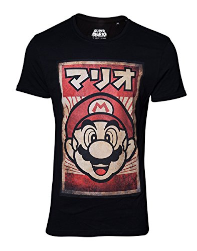 Bioworld EU Official Super Mario Japanese Mario T-Shirt