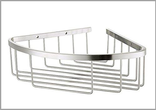 Jerede disegno filo di acciaio inossidabile a strato singolo ripiano angolare ripiano angolare ceste