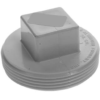 Aviditi 94907 Cleanout Plug, Raised Head, White Plastic, 4-Inch, (Pack of 5) by Aviditi