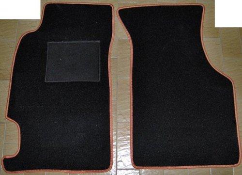 93bis 1998Schwarze Fußmatten für Auto, Komplettset-Gummimatten passgenau Arancione ()