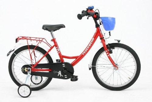 Bachtenkirch 1300434-FW-74 - Bicicletta da bambino dei vigili del fuoco Feuerwehr, colore: rosso/b