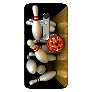 Mobo Monkey Designer Printed Back Case Cover for Motorola Moto X Play (Bowling :: Arcade :: Game :: Sports :: 3D)