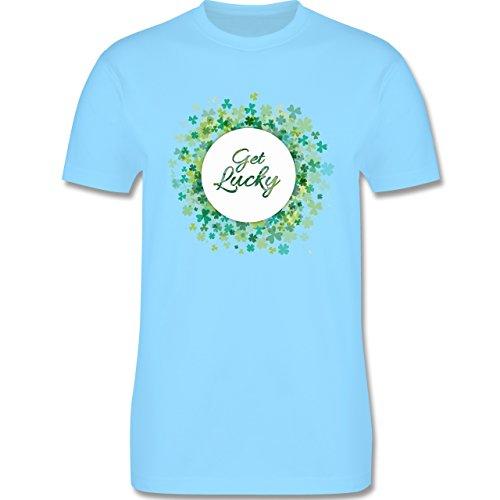 Festival - Get lucky Kleeblatt Glück St. Patrick's Day - Herren Premium T-Shirt Hellblau