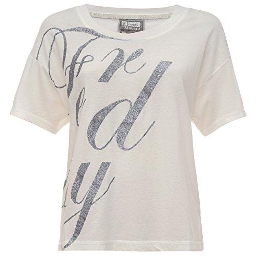 Freddy Takef6 T-Shirt, Donna, Bianco, Small (Taglia Produttore:S)