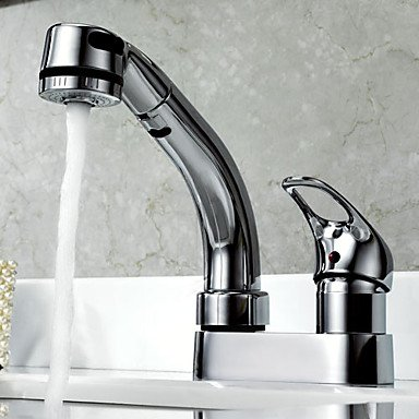 SHUYOU® Kitchen Faucet Contemporary Pullout Spray Ceramic Chrome