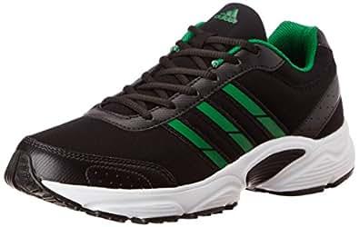 Adidas Men's Yago Black, Green and White Running Shoes - UK 10