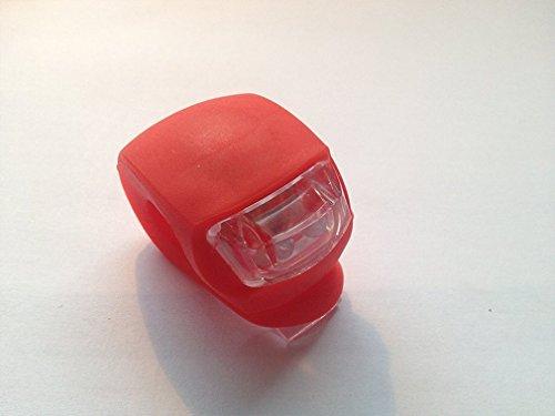 Jooks MINI LED Silikonleuchte LED Fahrradbeleuchtung Jogging licht Mobile LED-Lampe Silikongeh&aumluse Fahrradzubeh&oumlr Wanderung,(rot)