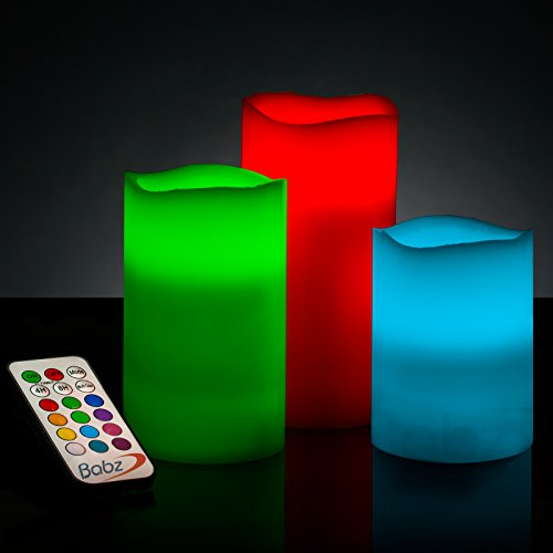 babz-smooth-3-x-weatherproof-outdoor-and-indoor-colour-changing-led-candles-with-remote-control-time