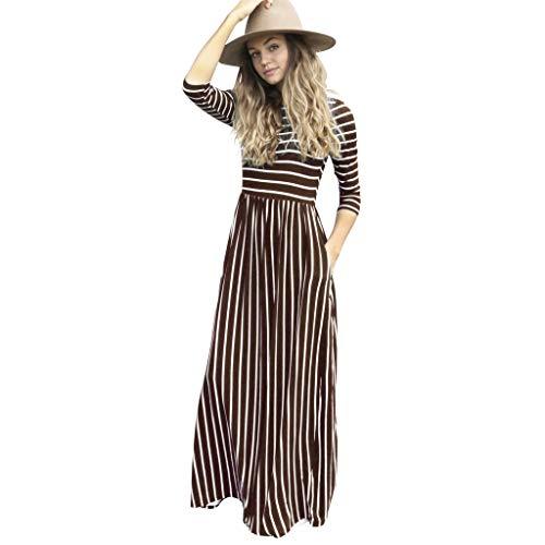 Floweworld Ladeis Maxikleider Langarm Gestreift Bedruckt Lässige Kleidung Mit Taschen Holiday Beach Lange Kleider Holiday Becher