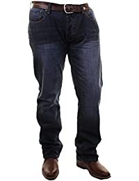 Mens Firetrap Roma Fit Straight Leg Casual Jeans In Denimwash & Stonewash