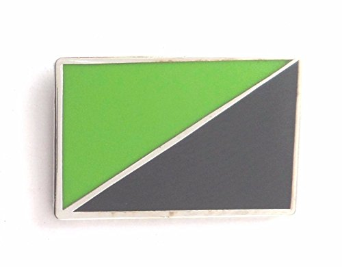 Anarchie anarcho-environmentalism Flagge Metall Button Badge Pin Pins Anstecker -
