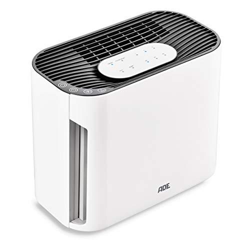 ADE Luftreiniger HM 1804 (mit EPA-Kombifilter, Aktivkohlefilter, UV-C-Lampe, Ionisator, 3 Leistungsstufen und Sleeptimer) weiß