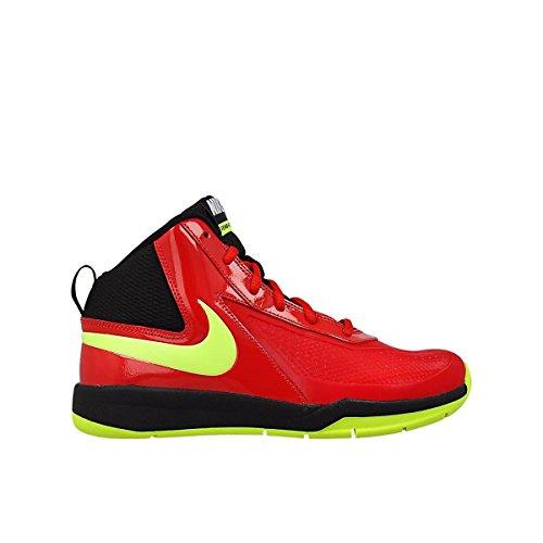 Nike Team Hustle D 7 (Gs)- Scarpe da basket da bambini, Rosso (University Rete / Volt Black), 37.5 EU