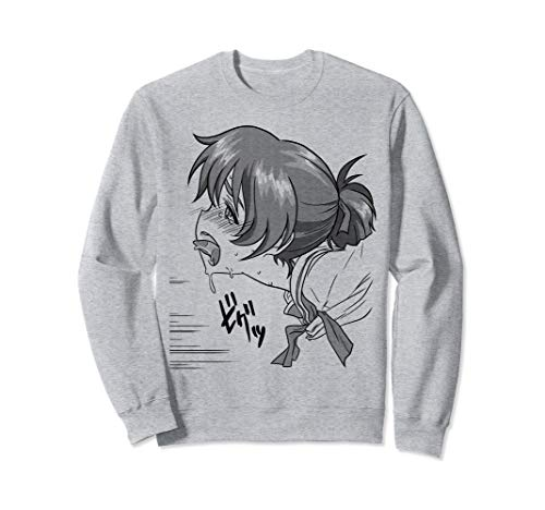 Lewd Anime Ecchi Hentai Girl Ahegao face Sweatshirt Face Kids Sweatshirt