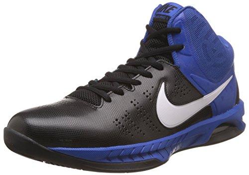 Nike Herren Air Visi Pro Vi Basketballschuhe Schwarz / Weiß / Blau (Schwarz / Weiß-Spiel Royal-Bt-Blau)