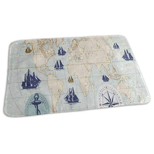 Changing Pad Vintage World Map with Compass Baby Diaper Urine Pad Mat Cool Toddler Children Mattress Pad Sheet for Any Places for Home Travel Bed Play Stroller Crib Car