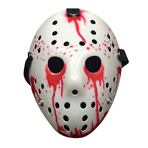 3Ciker Jason Mask Für Rave Anonyme Versammlungen Halloween Kostüm Halloween-Party Für Erwachsene Jungs Alter Mann Frauen Kinder (Party Für Jungs Halloween-kostüme)