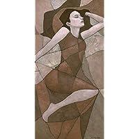 "Original Art Nouveau Female Figure Painting""Rhea"""