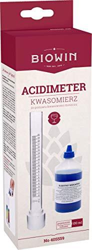 BIOWIN Acidometer komplett Set Blaulauge Wein selber Machen, Säurebestimmung (Wein-set)