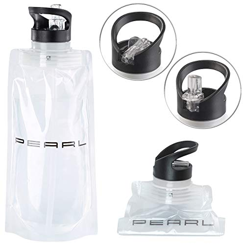 PEARL Wasserbeutel: Faltbare Trinkflasche mit Trinkhalm, für Sport und Freizeit, 800 ml (Faltbare Wasserflaschen)