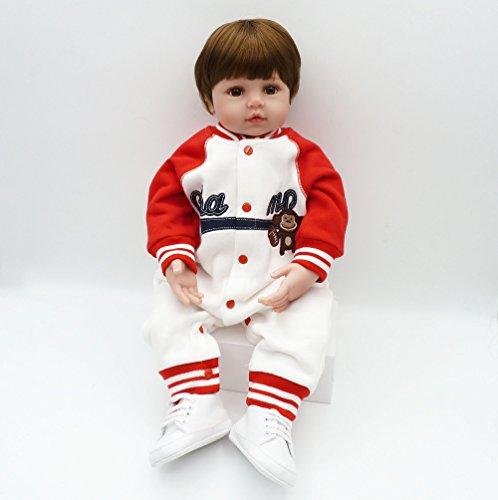 Pursue Baby Lebensechte gewichtete asiatische Baby Puppe Cha, 24 Zoll