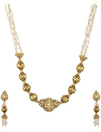 Shivani Imitations Gold Plated Multi-Strand Necklace Set For Women (NCA0025)