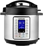 Nutricook Smart Pot Prime 1200 Watts - 10 in 1 Instant Programmable Electric Pressure Cooker, 8 Liters, 16 Sma