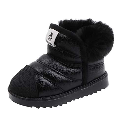 Maleya Kinder Schneeschuhe wasserdicht Kleinkind Baby Jungen Mädchen Winter warme Schuhe Trendy High-Top Sneakers Frauen Stiefeletten Höhe erhöhen Schuhe hohem Absatz und Schnee Schuhe Knöchel