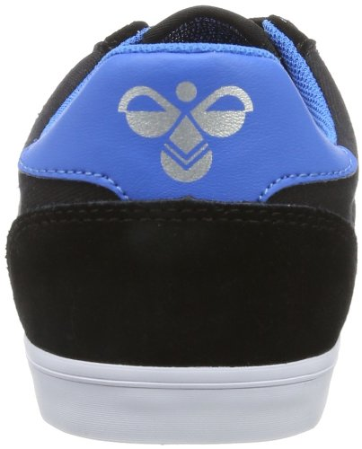 Hummel Fashion - Chaussures Hummel 'Slimmer Stadil Low', de sport - HUMMEL SLIMMER STADI, Baskets mode mixte adulte Noir (Black/Blue/Red/Gum)