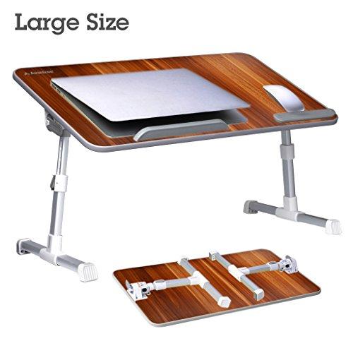 Avantree Ajustable Mesa de Cama para Portátil (Tamaño Grande), soporte para portatil de Lectura, Escritorio Portátil, Bandeja Plegable de Sofá para Desayuno - TB101L Red