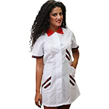 Fratelliditalia Bata salumeria supermercado Trabajo Alimentos minimarket Mujer Blanco Algodón, Rojo, ...